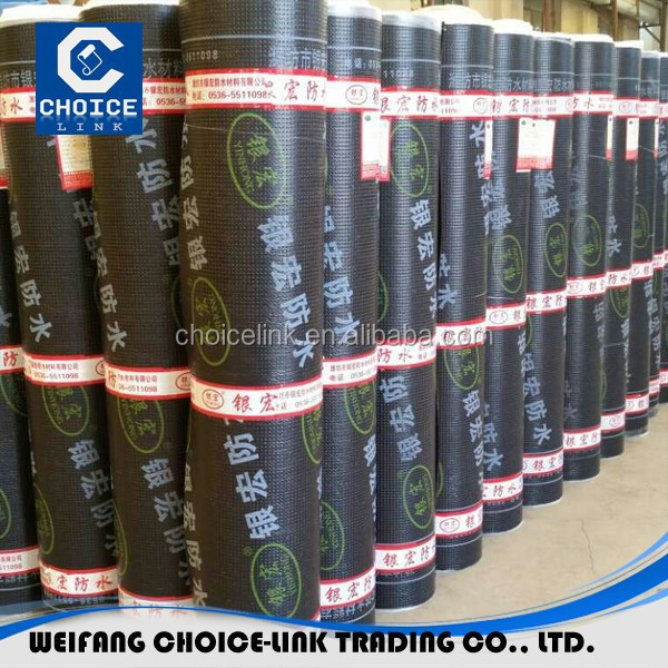 cheap 2 3 4mm SBS bitumen waterproof membrane and roll building roof