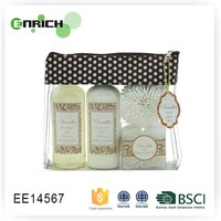 Hot Sale Cosmetic Bag Gift Bath Set With Aloe Extract