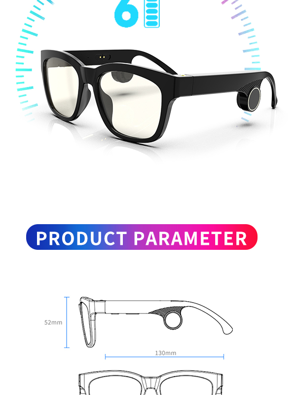 UV400 Polarized Bone Conduction Sun แว่นตาบลูทูธ