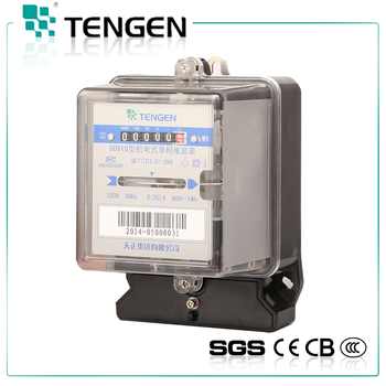 Hot S High Quality Single Phase Long Life Turn Off Electric Meter Dd910 Box