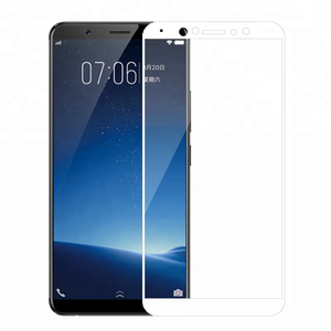 3D curved color full cover mobile phone Tempered Glass Screen Protector for Vivo X20