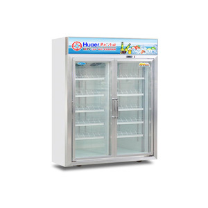 glass door absorption double sided refrigerator made in china