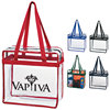 Zippered Clear Stadium Box Tote Pvc Bag