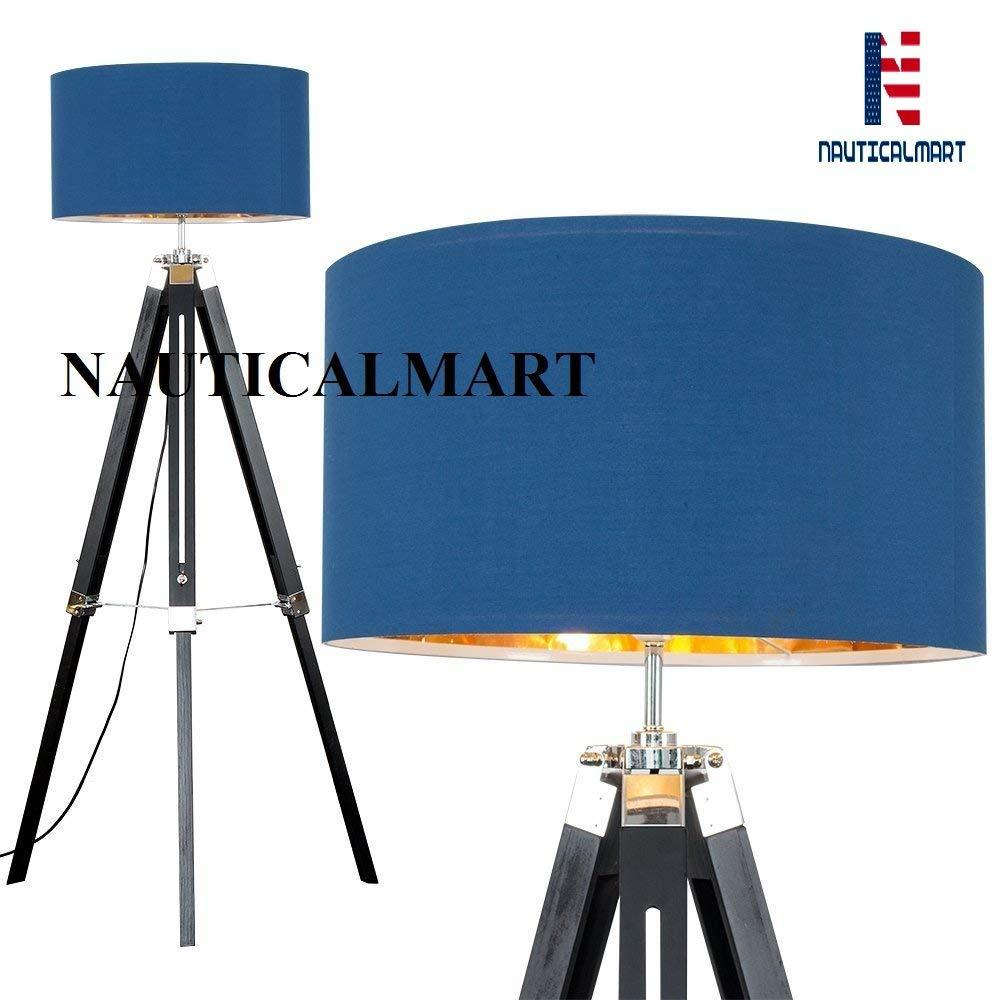 Wooden Adjustable Tripod Floor Lamp Stand for living Room, Bedside lamp, Home Decor