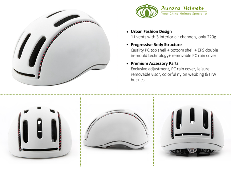 Urban Commuter Electric Bike Helmet With Removable Visor