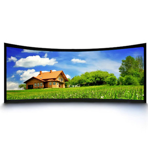360 180 degree Curved Fixed Frame Projection Large Frame Screen For Home Theatre