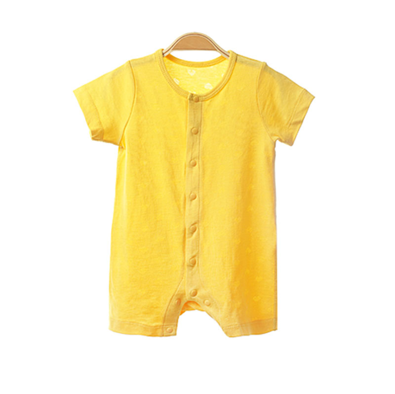 2019 OEM Service Organic Cotton Baby Onesie Bodysuit Short Sleeve Infant Romper 100% Bamboo Baby Clothing