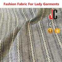 JC-M12450 Yarn dyed cotton jacquard vintage fabric silk cotton knit fabric