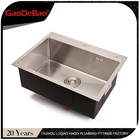 Gaodebao kitchen 304 stainless steel sink single bowel