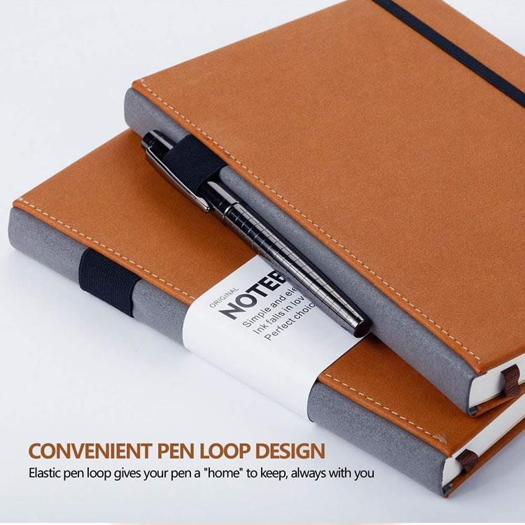 Timbul Wisatawan Kulit PU Terikat Cover Notebook A5 Asli Kustom Lembut PU Kulit Notebook dengan Harga Murah dengan Pena