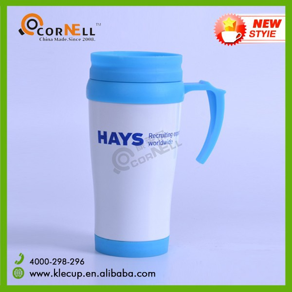 Customised Colorful Travel Mug Plastic Coffee Mug made for HAYS