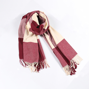RM028 Spring Autumn Winter Women Pink Cute Scarves Plaid Blanket Scarf For Girl