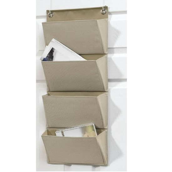 Wall Mounted Fabric Storage Pockets Magazine Storage Bag ...