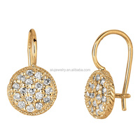 High Quality lady fashion 24 Carat Gold Earrings