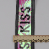sequins manufacturer decorated beaded pink letter stretch braided lace sequin trim