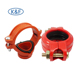 ductile iron mechanical tee 4 inch pipe fittings fm/ul grooved coupling rigid coupling for fire sprinkler system