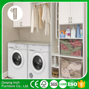bunnings broom cupboard,shelving above washer and dryer,laundry