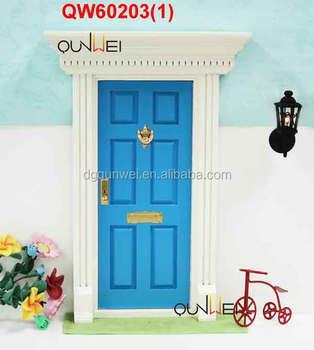 1:12 Miniature Wooden Fairy Door Garden Mystical Gnome Gothic Elf Door Home  Decor