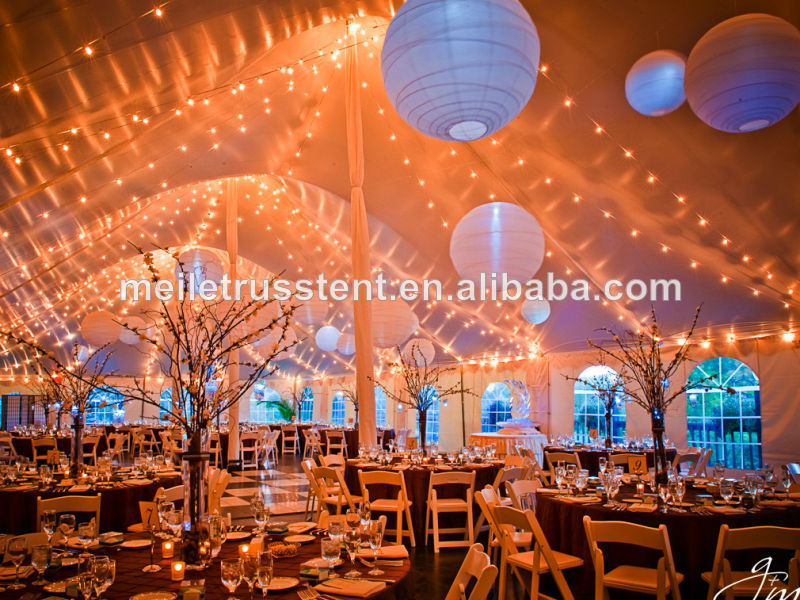 Outdoor pvc tent carpas tenda gazebo garden party clear for Indoor marquee decoration