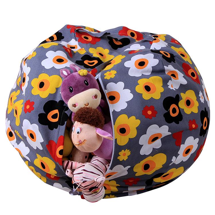 2019 Cheap Folding Large Kids Toy Storage Bag, Portable durable Toy Buggy Toy Bag, Factory OEM Custom Stuffed Animal Storage Bag