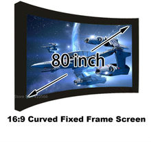 Top Rate Seller Wholesale 80Inch Cheap Price 16:9 Ratio Curved Fixed Frame Projector Projection Screen For 3D Home Theater