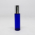 10 ml empty blue frosted thick glass roller bottle essential oil