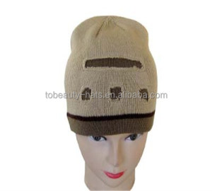 100% Acrylic beanie double layer with customized holes