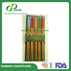 All Kinds of Resuable Bamboo gift Chopsticks with Opp Bag Packing