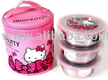 2e23ec11f93a Hello Kitty Lunch Box - Stainless Steel (round)   Hello Kitty Wholesaler ...