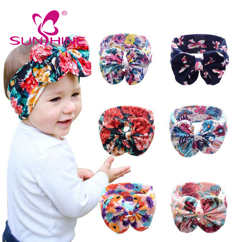 Baby's Headbands Girl's Cute Hair Bows Hair Bands Newborn Headband Pack