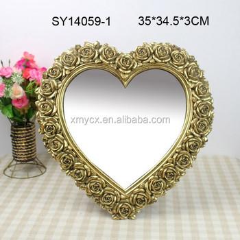 Home Decorate Heart Shaped Mirror Frame Decorative Bathroom