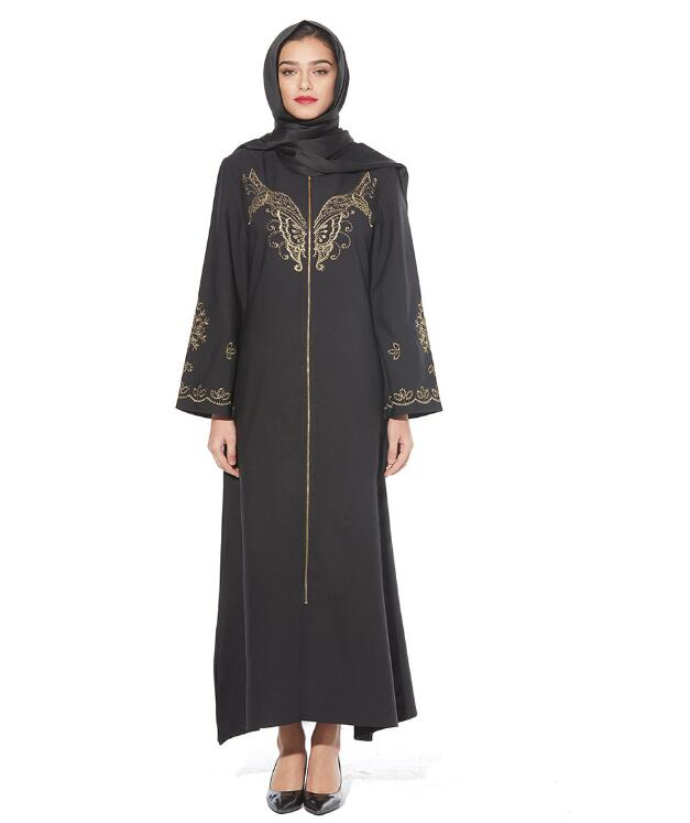 butterfly decoration gilding press muslim abaya for ramadan