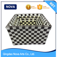 Hand woven PP innovative kids storage box