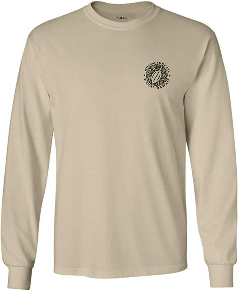 f675f499ee Get Quotations · Koloa Surf Hawaiian Turtle Logo Long Sleeve T-Shirts in  Regular, Big and Tall
