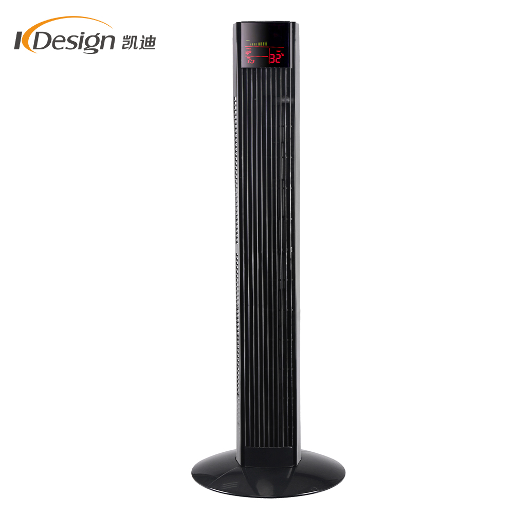 Black 36 inch 220v tower fan smart home living room tower fans with display screen