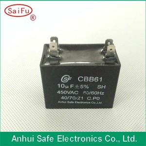 High technology various cbb61 300vac fan capacitor