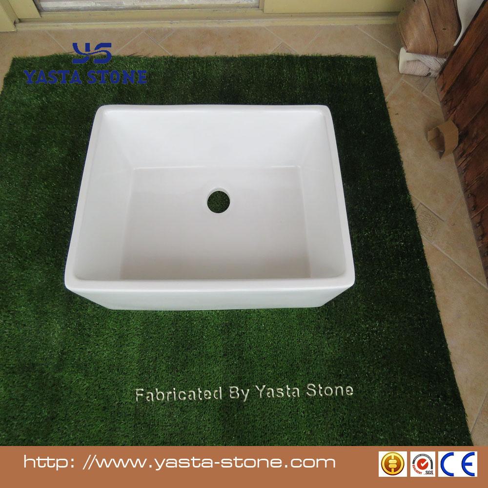 Yasta White Laboratory Basin Laundry Wash Sink Kitchen Ceramic