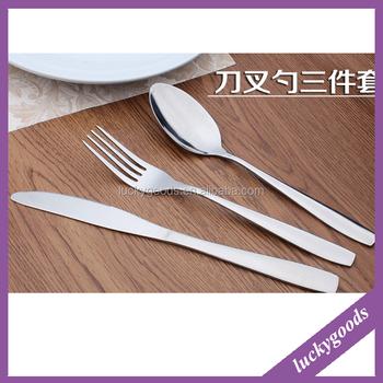 3 pcs un ensemble couteau et fourchette et cuill re. Black Bedroom Furniture Sets. Home Design Ideas