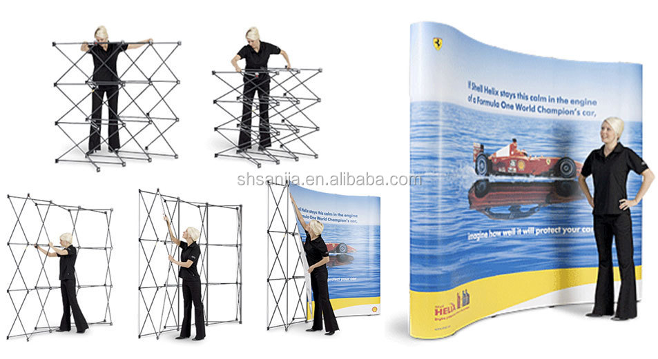 Fabric Pop Up Exhibition Stands : Pop up display stands exhibition stand