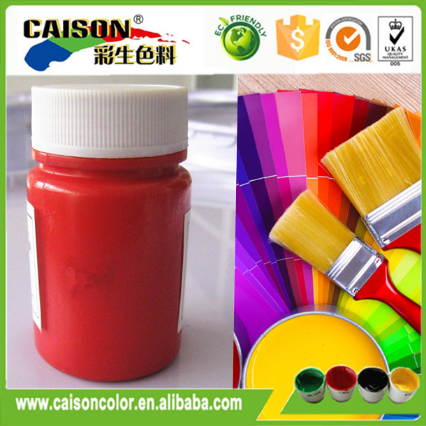 Pigment Red color for concrete coatings