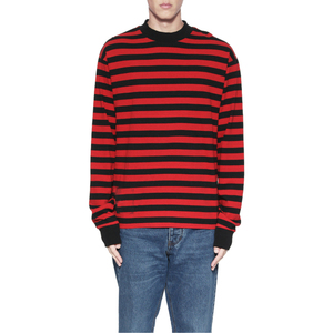 Men's Ribbing Neck Striped Patterns Sweatshirts with Full Sleeves