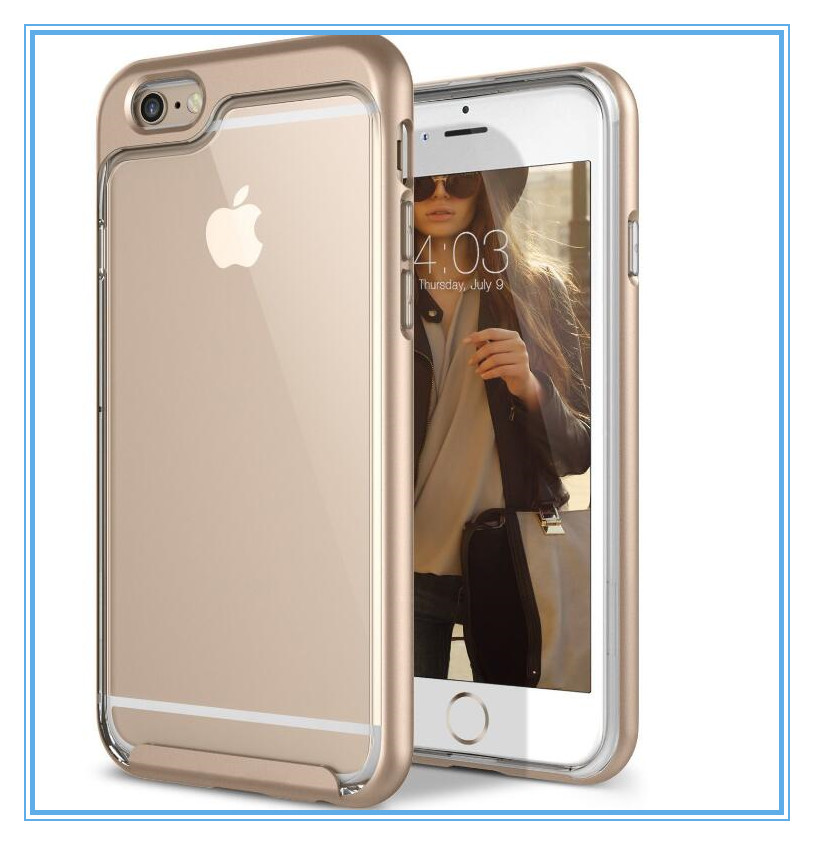 blank cell phone case for iphone6s hybrid slim case with hard PC and Inner rubber cover