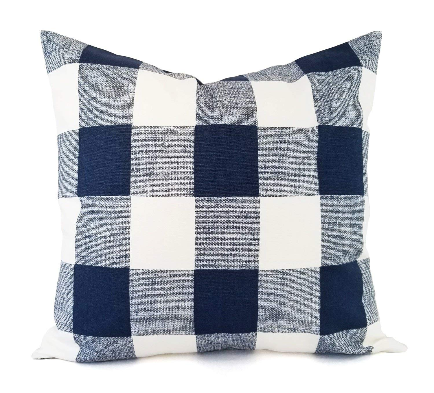 Get Quotations Navy Plaid Pillow Cover Blue Buffalo Check Modern Custom