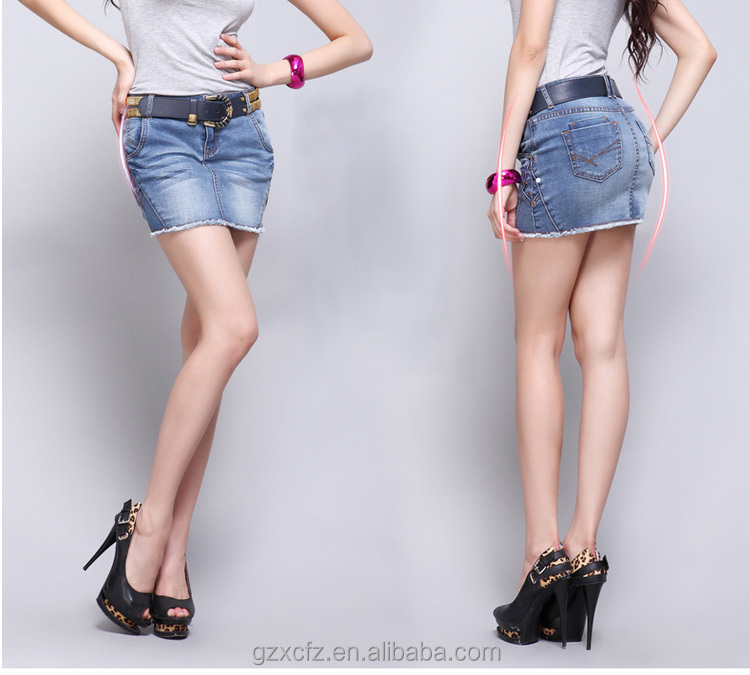 Latest Fashion Designer Sexy Girl Short Denim Skirt 2033 - Buy ...
