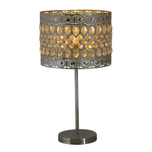 popular design crystal light cover metal table lamp