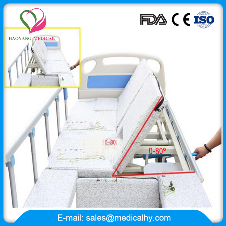 Automatic Care nursing medical hospital Bed with bed toilet