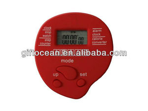 multifunction promotional pedometer w alarm clock & stopwatch