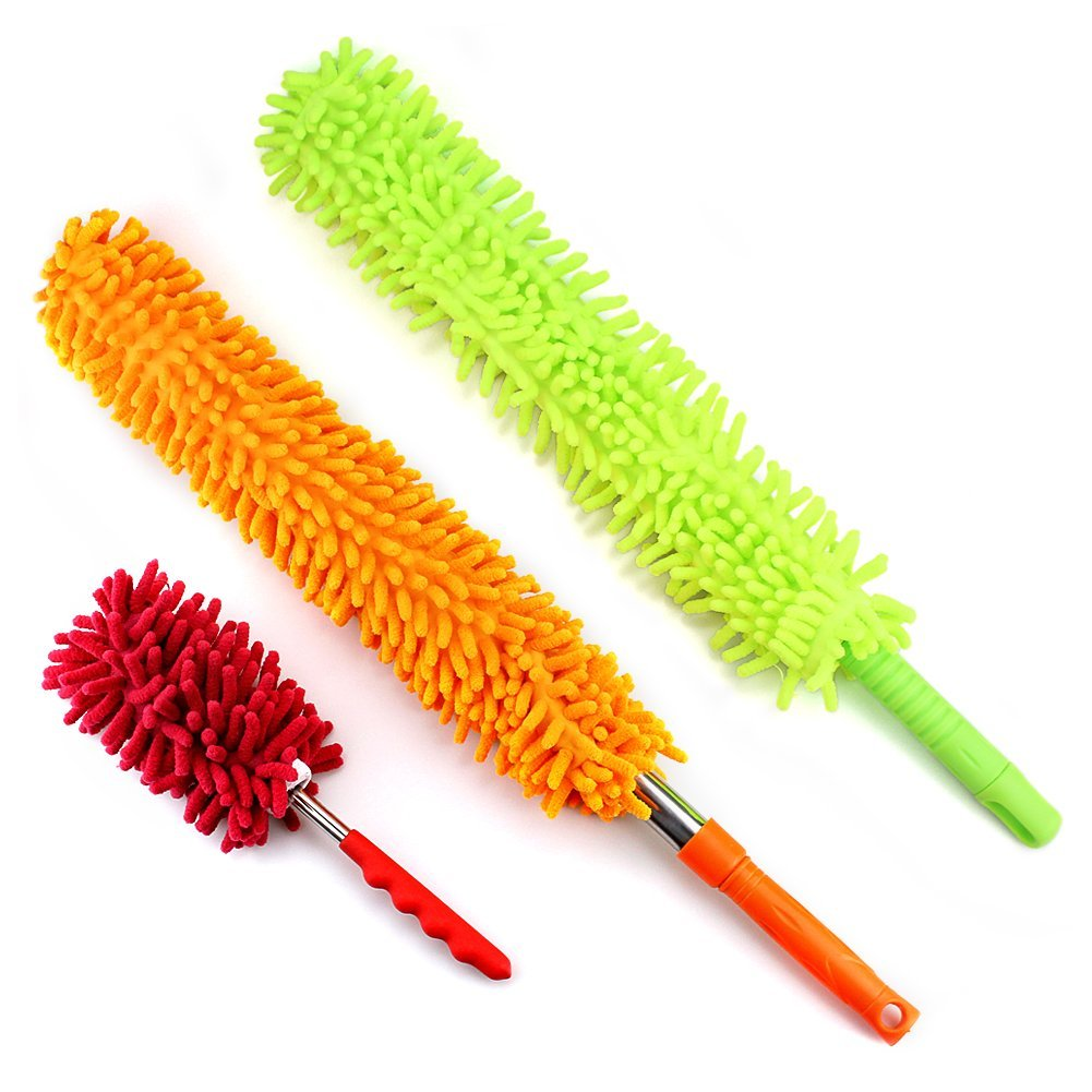 Jvl Flexible Chenille Head Duster With Extendable Handle Home & Garden Other Home Cleaning Supplies