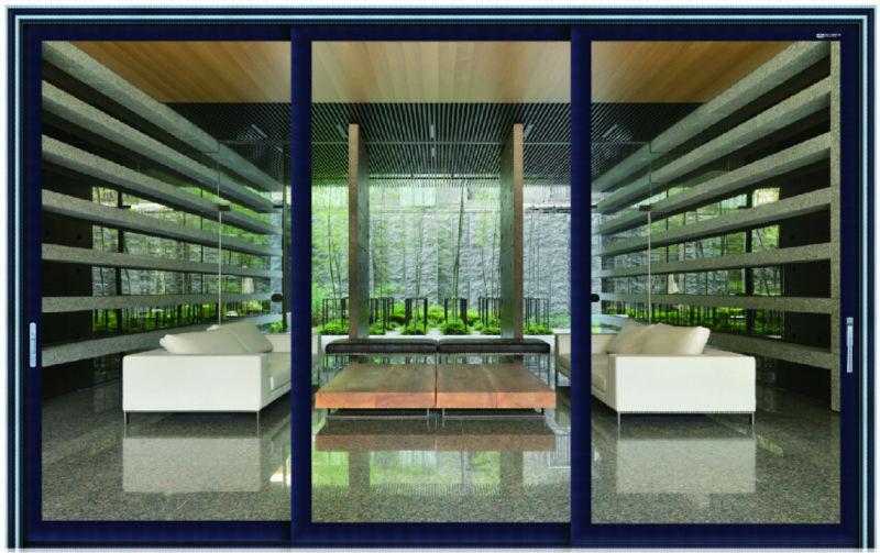 moderna de aluminio puerta corredera exterior puertas plegables de vidrio exterior puertas correderas de cristal with puertas correderas de exterior
