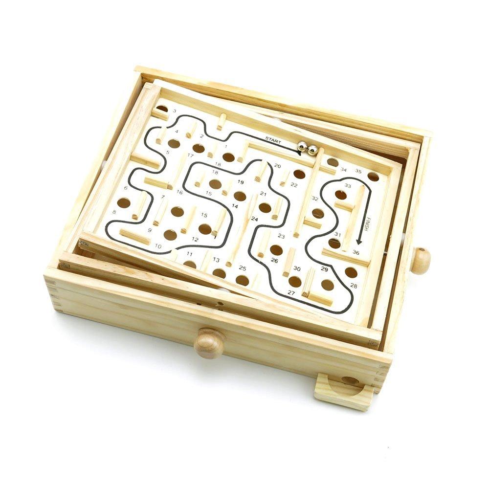 2 PCS Toys Brainteaser Disentanglement Logic Training IQ Educational Puzzle Game WYS0110 Maze Game